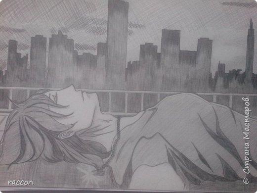 одна из моих первых попыток срисовать человека с фото в стиле аниме фото 10