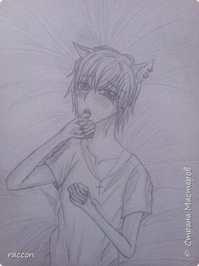 одна из моих первых попыток срисовать человека с фото в стиле аниме фото 12