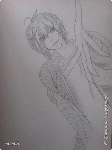 одна из моих первых попыток срисовать человека с фото в стиле аниме фото 13