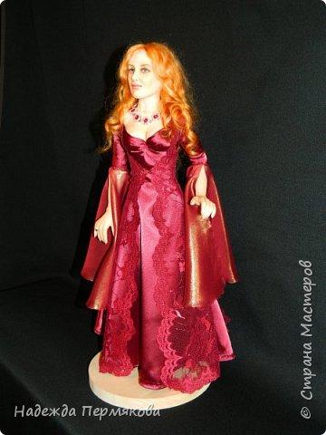 Куколка из пластика размер 50 см, волосы шерсть овцы, проволочный каркас, планируется в пару султан Сулейман. А как же без него. фото 4