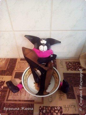 Всем жителям замечательной страны огромный привет!сегодня я к вам с черненьким котиком)))))вот такой прикольный котик у меня получился!приглашаю вас к просмотру! фото 6