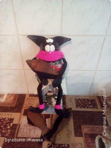 Всем жителям замечательной страны огромный привет!сегодня я к вам с черненьким котиком)))))вот такой прикольный котик у меня получился!приглашаю вас к просмотру! фото 8