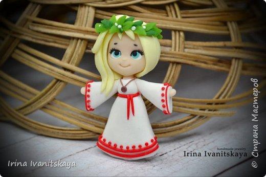 В этом мастер-классе я покажу как сделать куколку чиби в славянском стиле из полимерной глины. фото 2