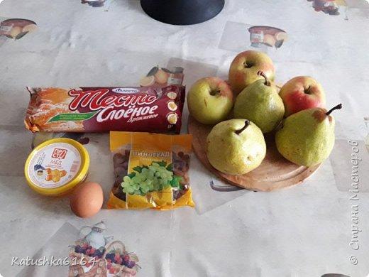 Здравстуйте , уважаемые мастера и мастерицы, хочу поделится рецептом очень простого  в приготовлении и вкусного десерта. Это фрукты запеченые в слоеном тесте . фото 2