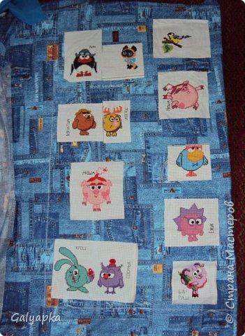 Мое первое одеяло, делала в 2010г. на основе старого пледа. Правда без всякой систематизации, просто накопились байковые лоскутики, решила наконец-то сшить из них одеяло о котором давно мечтала. Плюс старая бабушкина вышивка которую было жалко выкинуть и вот результат.  фото 6