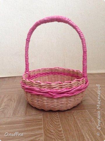 Небольшая корзиночка для любимой внучки на Пасху фото 1