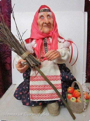 Хочу показать вам новую работу, Бабушка Яга! Правда она не до конца сделана -нет атрибутов для Яги, Будет еще ступа( наверное) с метлой.  Вот такая чистюля в этот раз! фото 17