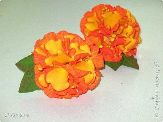 Всем привет! Пока отдыхаю от ободков (http://stranamasterov.ru/node/1036260), но по-прежнему не могу остановиться от Доброцветов. На этот раз резиночки, которые тут же разошлись как горячие пирожки. Первая пара - желтые тонированные красной пастелью (в итоге желто-оранжевые) фото 1