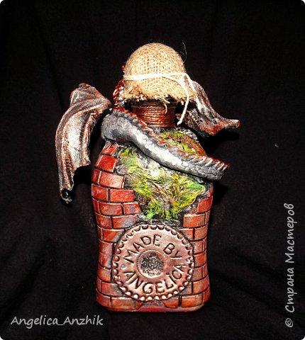 Дракон на бутылке. Любимая тема. фото 3