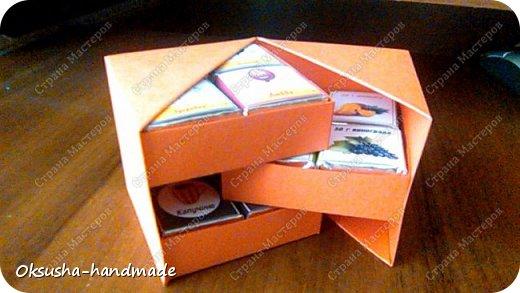 Моя проба пера по освоению дизайна новой коробочки на 36 шоколадок.  Отличная идея для подарка на день рождения, свадьбу, день учителя или другому поводу!  Просто идеальная коробочка, рассчитанная на три  яруса, в которых можно, как положить одинаковые по стилистике обертки, так и разные, например, как я из имеющегося материала, сложила этот кубик. Первый ярус - кофейная тематика, второй ярус - шоколад для вечно худеющих, третий слой - с днем рождения.  Спасибо за МК: http://stranamasterov.ru/node/998669?c=favorite. Пришлось, конечно, сделать свои расчеты, но коробочка вышла отличная! Буду теперь работать над внешним дизайном. Еще раз огромное спасибо за идею и МК мастерице Страны Мастеров! фото 8