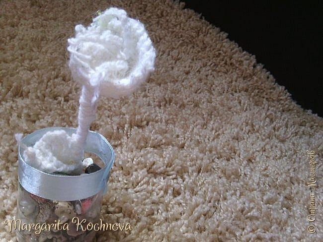 Сказочный цветок крючком фото 3