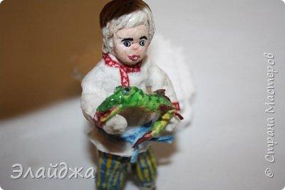 Привет всем жителям Страны мастеров! Вот  получилась у меня такая игрушка. Очень долго лежало у меня в шкатулке прокрашенное личико, но как-то не могла понять кто же на меня смотрит фото 6