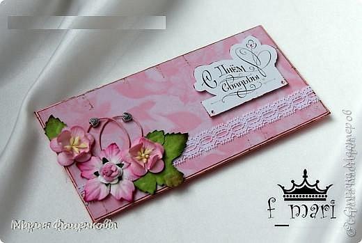 Конверт на свадьбу для денежного подарка выполненный на заказ