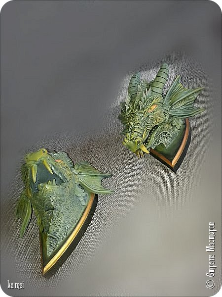 дракошики начались с того, что были две одинаковые досочки ромбовидной формы, значит надо было сделать что то парное. фото 4
