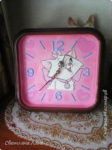 Доброго времени суток...хочу поделиться работой по декорированию часов...так захотелось светлого фона...светлого настроения и улыбок.. фото 3