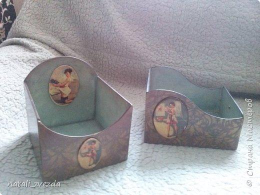 На заказ сделала комплект по мотивам Натальи Родиной. - салфетницу и короб для специй фото 2