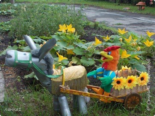 Лето время украшать приусадебные участки. Хочу показать, как я делала очередного питомца в огород. Маленький ослик, чудное животное. фото 8