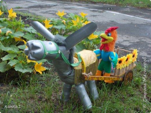 Лето время украшать приусадебные участки. Хочу показать, как я делала очередного питомца в огород. Маленький ослик, чудное животное. фото 1