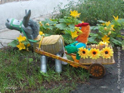 Лето время украшать приусадебные участки. Хочу показать, как я делала очередного питомца в огород. Маленький ослик, чудное животное. фото 9