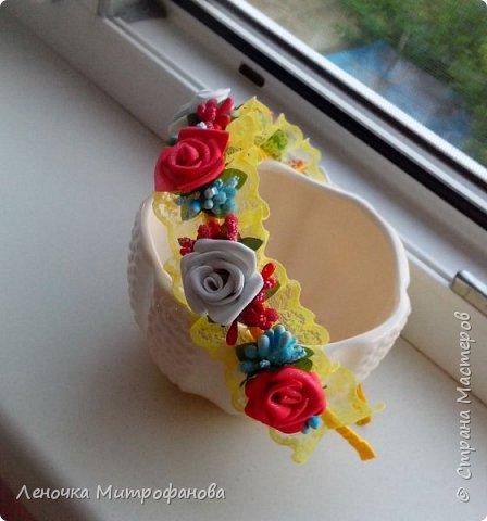 Ободки))))мои первые работы (подарки крестнице) фото 5