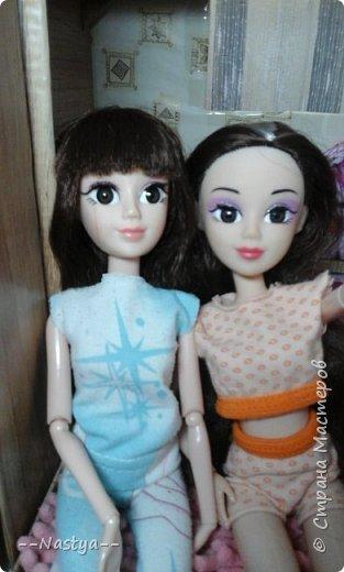 Доброе время суток! Решила я устроить для своих куклят ночёвку. Так же показать их ночнушки и комнату. фото 16