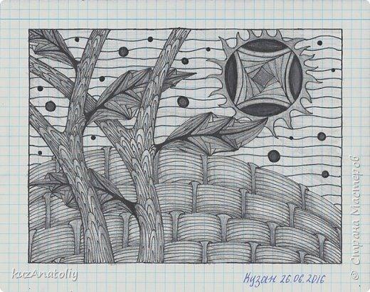 Зентангл - Луна