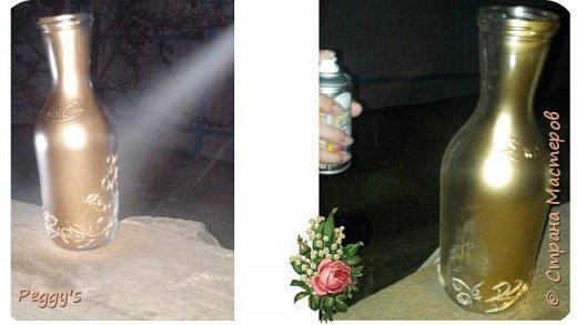 Сегодня я решила показать свою бутылку для святой воды. Она не только служит удобной ёмкостью для хранения, но и совсем не портит своим видом  интерьер.  Вот так выглядит наша бутылочка: фото 10