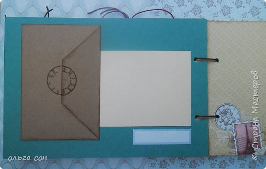 """Доброго дня всем мастерицам!! После небольшого перерыва на отдых спешу представить свою новую работу Альбомчик для путешествий, размер 21х15, двадцать страничек, использовала набор бумаги """"Путешествие"""", бумагу для пастелей, крафт бумагу. Для обложки использовала обои. Никаких объёмов не делала, чтобы было удобно в дорогу взять, делать заметки, записи какие либо...в общем книга """"дорожная"""", на заказ и ещё не оформлена фотографиями, ждёт заполнения) фото 15"""