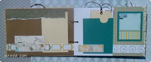 """Доброго дня всем мастерицам!! После небольшого перерыва на отдых спешу представить свою новую работу Альбомчик для путешествий, размер 21х15, двадцать страничек, использовала набор бумаги """"Путешествие"""", бумагу для пастелей, крафт бумагу. Для обложки использовала обои. Никаких объёмов не делала, чтобы было удобно в дорогу взять, делать заметки, записи какие либо...в общем книга """"дорожная"""", на заказ и ещё не оформлена фотографиями, ждёт заполнения) фото 5"""