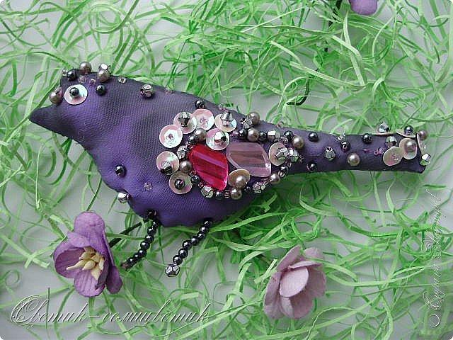 Всем привет!!! Сиреневая птичка-брошь - для моей любимой подруги. Сделано с любовью! фото 1