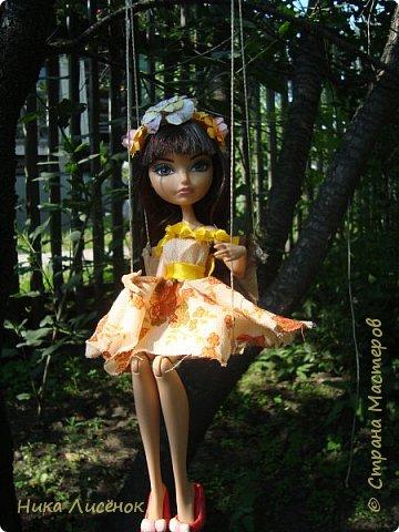 """Здравствуйте, жители Страны Мастеров! Сегодня я сдаю работу на конкурс """"Мисс Июль"""". Для него у меня пошилось такое платье и сделался """"цветочный"""" ободок. А теперь небольшая фотосессия! фото 1"""