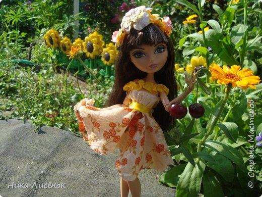 """Здравствуйте, жители Страны Мастеров! Сегодня я сдаю работу на конкурс """"Мисс Июль"""". Для него у меня пошилось такое платье и сделался """"цветочный"""" ободок. А теперь небольшая фотосессия! фото 2"""