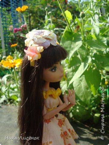 """Здравствуйте, жители Страны Мастеров! Сегодня я сдаю работу на конкурс """"Мисс Июль"""". Для него у меня пошилось такое платье и сделался """"цветочный"""" ободок. А теперь небольшая фотосессия! фото 3"""