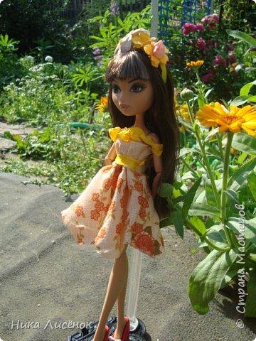 """Здравствуйте, жители Страны Мастеров! Сегодня я сдаю работу на конкурс """"Мисс Июль"""". Для него у меня пошилось такое платье и сделался """"цветочный"""" ободок. А теперь небольшая фотосессия! фото 4"""