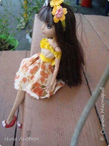 """Здравствуйте, жители Страны Мастеров! Сегодня я сдаю работу на конкурс """"Мисс Июль"""". Для него у меня пошилось такое платье и сделался """"цветочный"""" ободок. А теперь небольшая фотосессия! фото 5"""