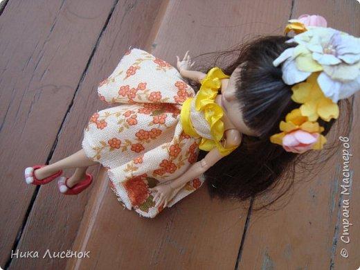 """Здравствуйте, жители Страны Мастеров! Сегодня я сдаю работу на конкурс """"Мисс Июль"""". Для него у меня пошилось такое платье и сделался """"цветочный"""" ободок. А теперь небольшая фотосессия! фото 6"""