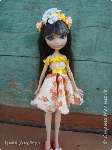 """Здравствуйте, жители Страны Мастеров! Сегодня я сдаю работу на конкурс """"Мисс Июль"""". Для него у меня пошилось такое платье и сделался """"цветочный"""" ободок. А теперь небольшая фотосессия! фото 7"""