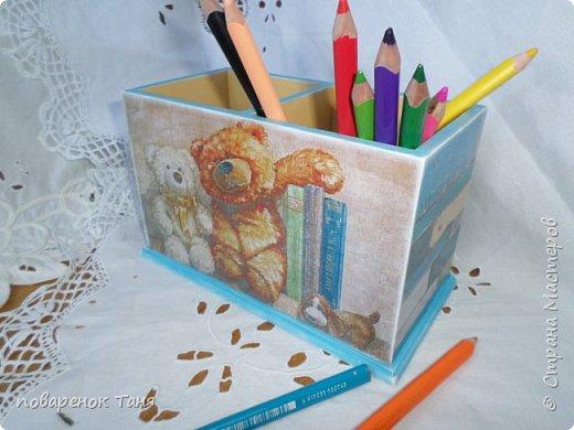 Здравствуйте, дорогие мастера. Сегодня мало текста и много фото. Накопилось)))) 1. Карандашница с милыми мишками.
