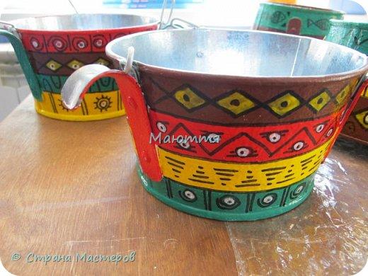 """Я уже вам показывала свою """"мексиканскую"""" террасу http://stranamasterov.ru/node/819975 . Продолжаю ее потихоньку дополнять. Вот, сделала композиции из искусственных веток, и к ним - кашпо фото 6"""