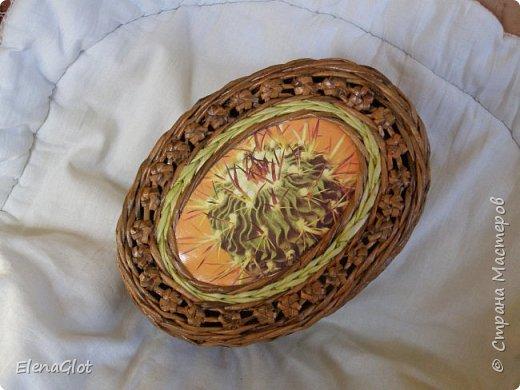 """Вот тоже попробовала """"сакуру""""На крышке использовала раритет-открытка прошлого века с изображением кактуса. фото 3"""