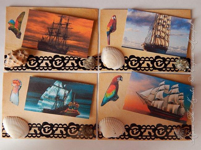 """Приветствую всех жителей Страны Мастеров! Карточки АТС """"Морские путешествия"""" для обмена. Меня вдохновил фильм """"Пираты Карибского моря"""" фото 1"""