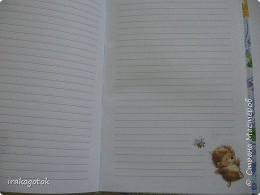 """Совы.......совы.........., а я вот решила Ежика сделать)) надеюсь всем понравится). Блокнот  """"ЕЖИК"""" формат А - 5 фото 4"""