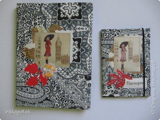 """Набор """"СОВЫ """" : блокнот формат А - 6 + обложка на паспорт из ткани. фото 4"""