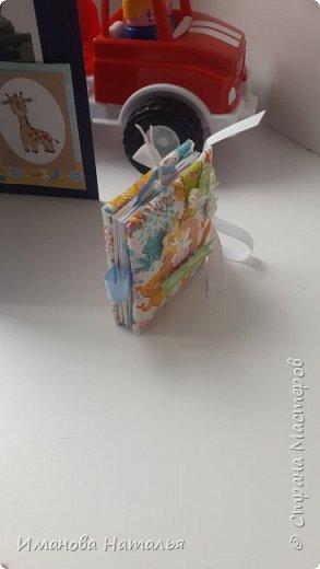 Открытка на 1 годик мальчику. В комплекте с мини-альбомом из одного листа. фото 3