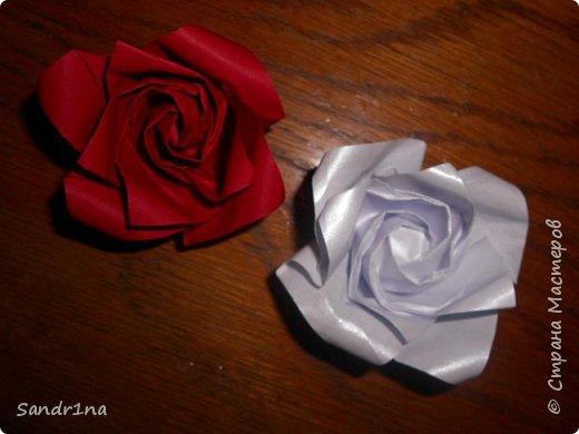 Розы оригами фото 19