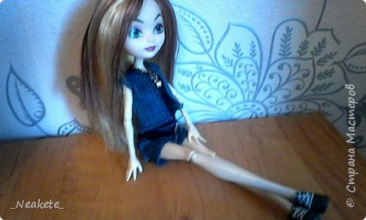 """Всем привет! Мы с Амелией участвуем в конкурсе """"Мисс Июль"""". Специально для конкурса я сшила вот такой вот летний джинсовый костюмчик с топиком.  фото 9"""