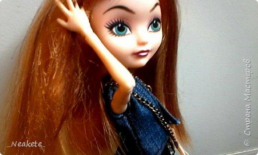"""Всем привет! Мы с Амелией участвуем в конкурсе """"Мисс Июль"""". Специально для конкурса я сшила вот такой вот летний джинсовый костюмчик с топиком.  фото 7"""