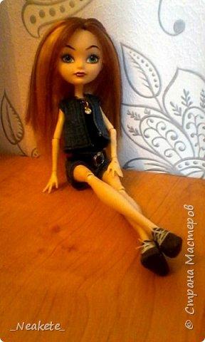 """Всем привет! Мы с Амелией участвуем в конкурсе """"Мисс Июль"""". Специально для конкурса я сшила вот такой вот летний джинсовый костюмчик с топиком.  фото 11"""
