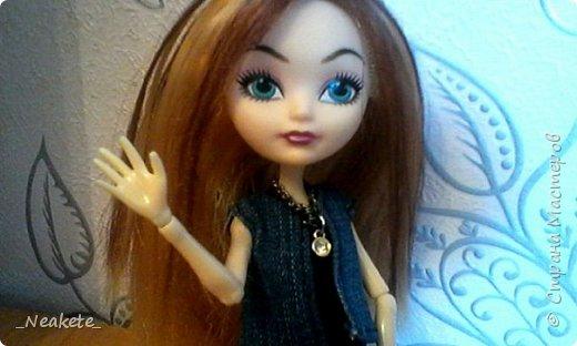 """Всем привет! Мы с Амелией участвуем в конкурсе """"Мисс Июль"""". Специально для конкурса я сшила вот такой вот летний джинсовый костюмчик с топиком.  фото 1"""