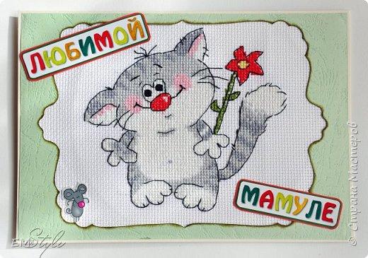 Небольшую вышивку можно оформить в симпатичные открытки) фото 2